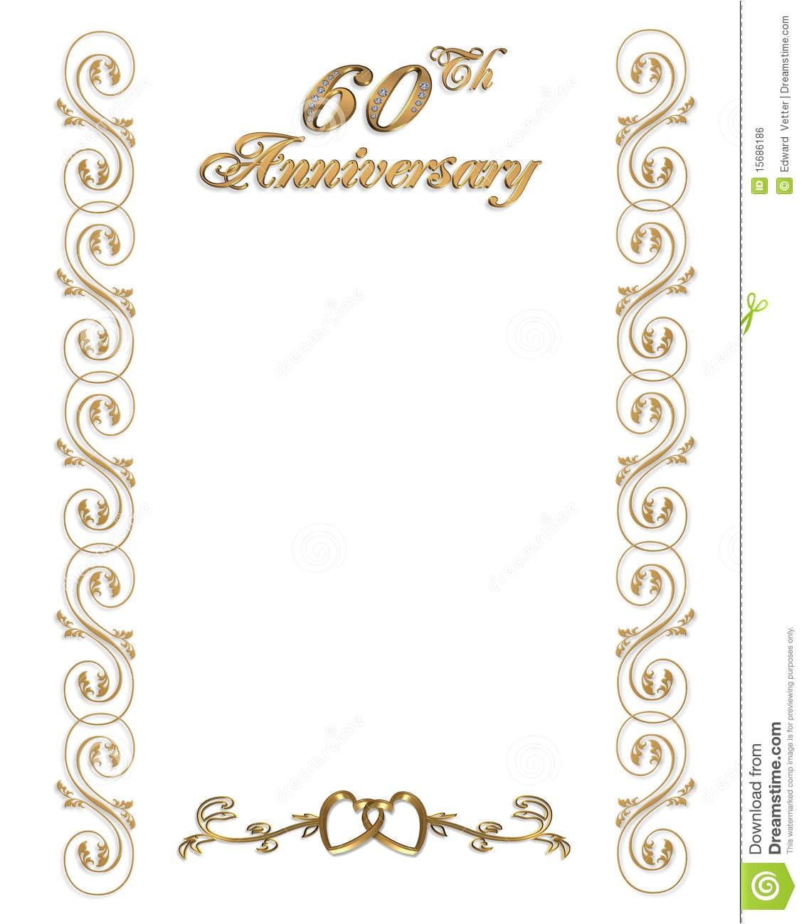 60th wedding anniversary invitations template