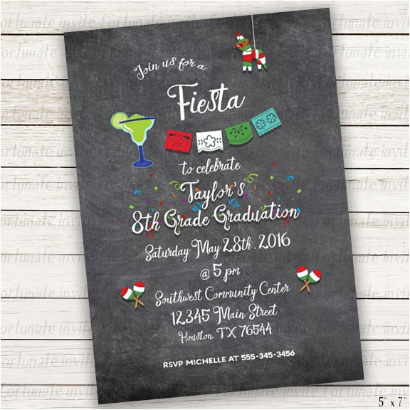 fiesta graduation invitations printable