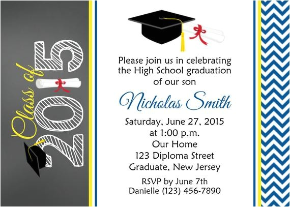 graduation invitation personalized