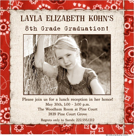 square festive grad announcement