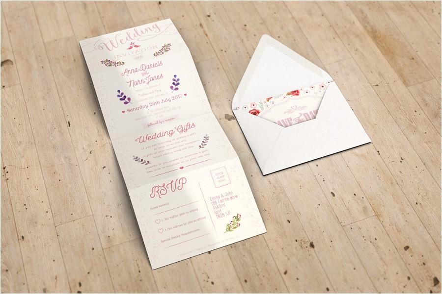 Accordion Wedding Invitations Accordion Wedding Invitation Mockup Www Idesignstudio Net