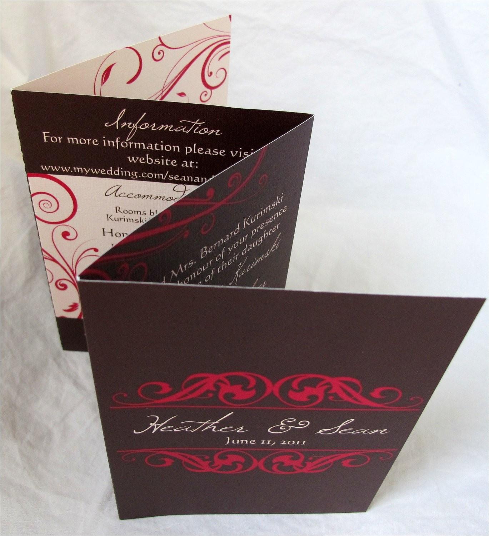 heather sean accordion fold wedding