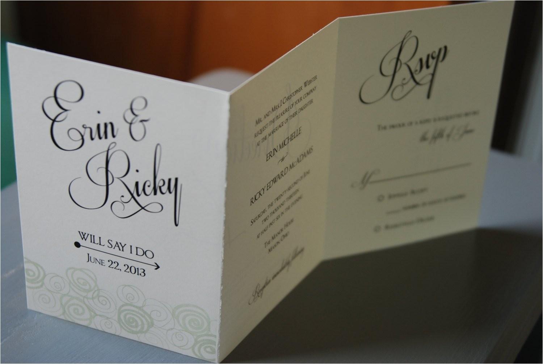 unique accordion wedding invitation