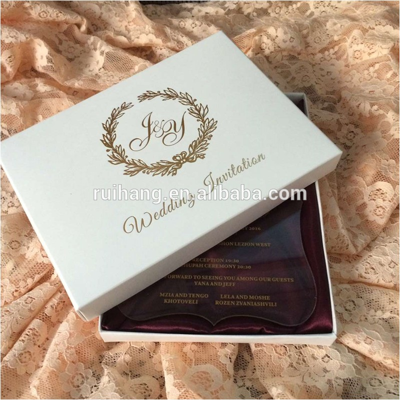 clear acrylic die cut wedding invitations 60407648720