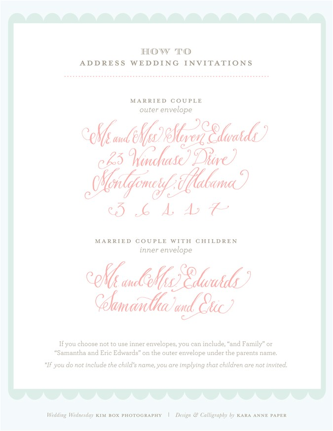 how to address wedding invitations to a family with one child tags