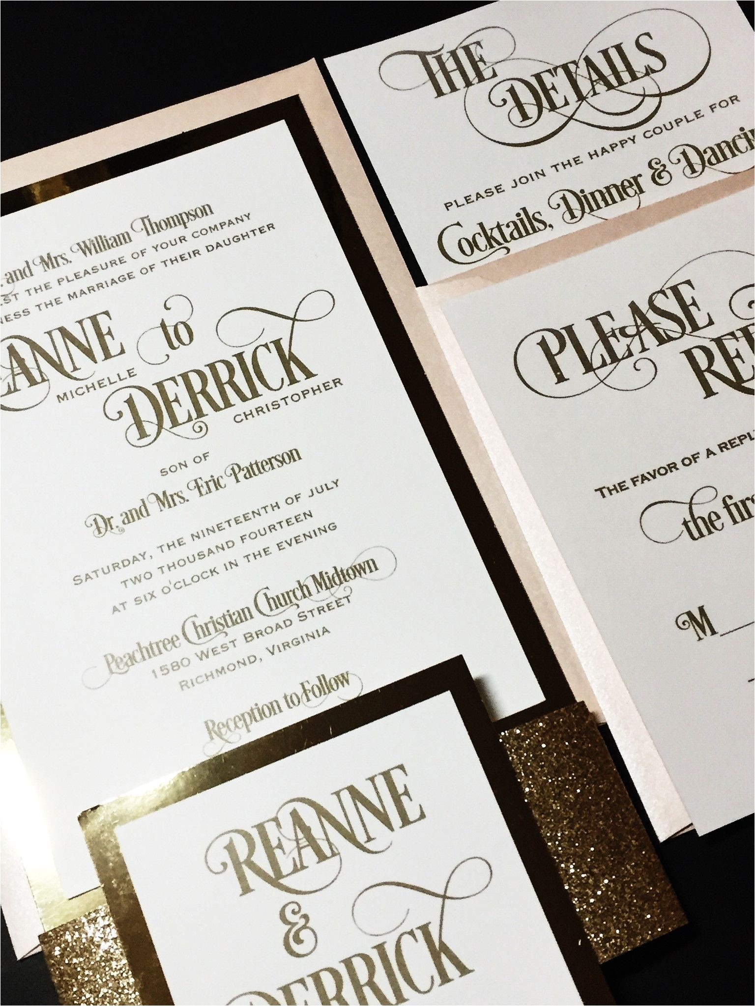 cheap modern wedding invitations