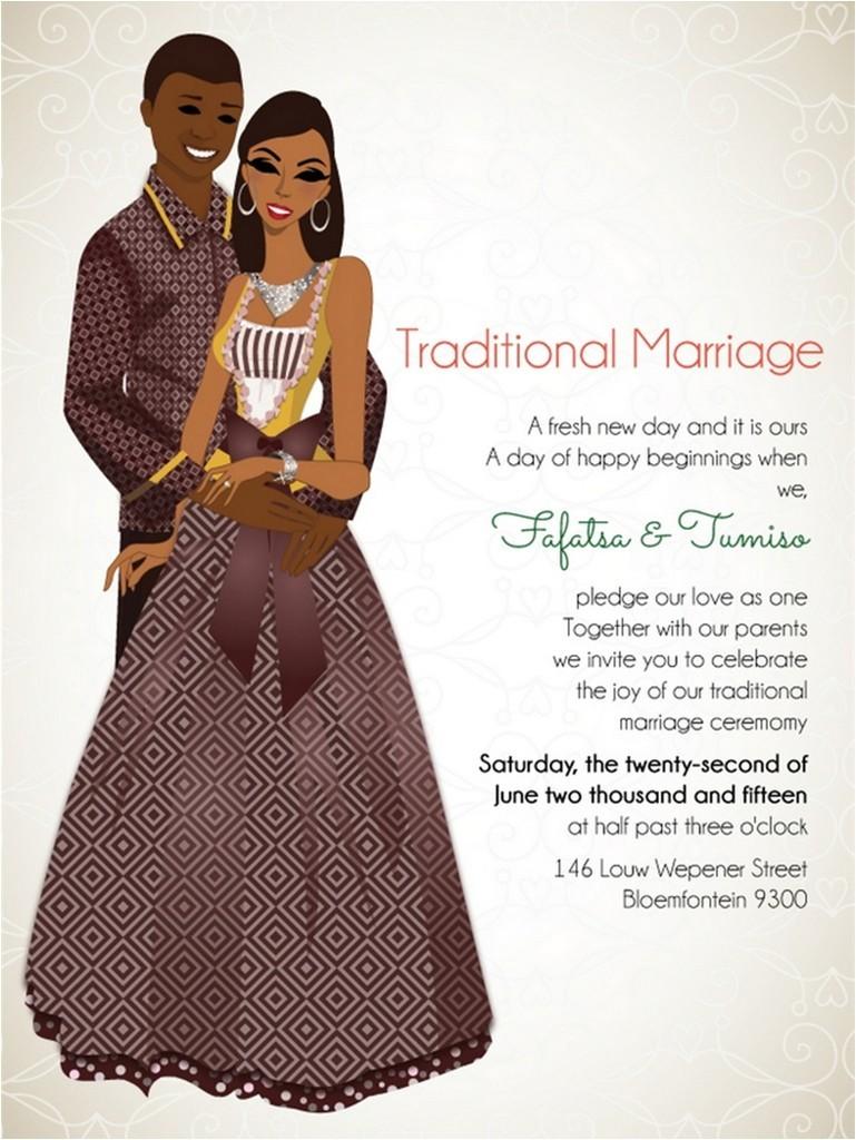african wedding invitations