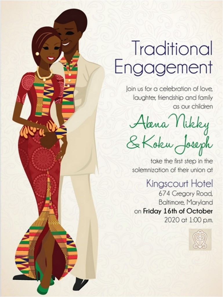 african wedding invitations
