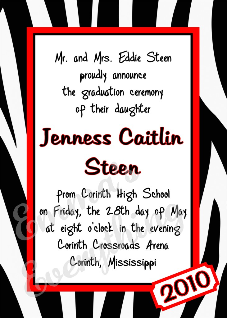 scenic after graduation party invitation wording