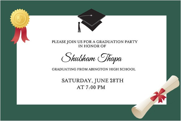glorious formal graduation party cards style invittion simple white paper awesome stuff certificates and hat