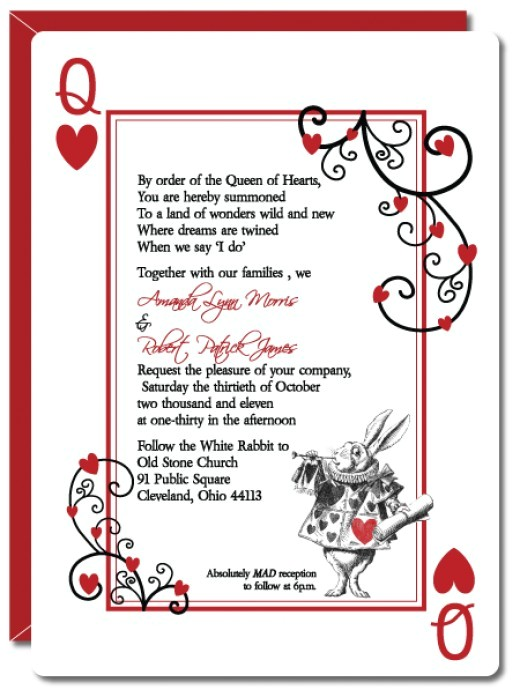 alice in wonderland wedding invitations template