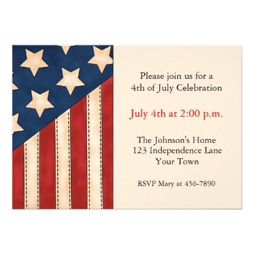 custom patriotic invitations