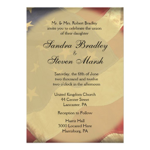 american flag wedding invitations 256445007591407858