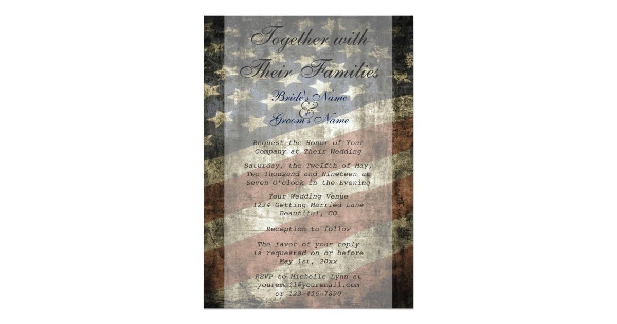 patriotic us flag wedding invitation and rsvp 256048287016121098