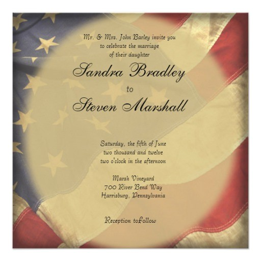 American Stationery Wedding Invitations American Flag Wedding Invitations Zazzle