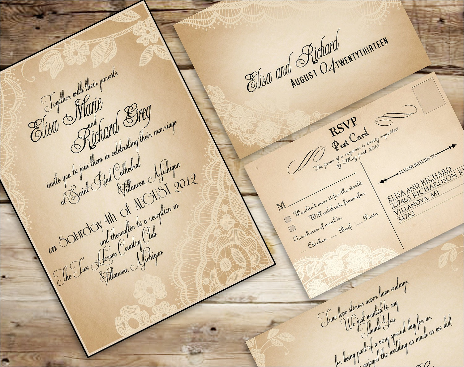 30 unique vintage wedding invitations