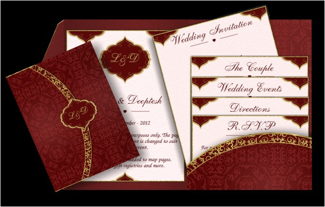 pocket style email indian wedding invitation card design 40