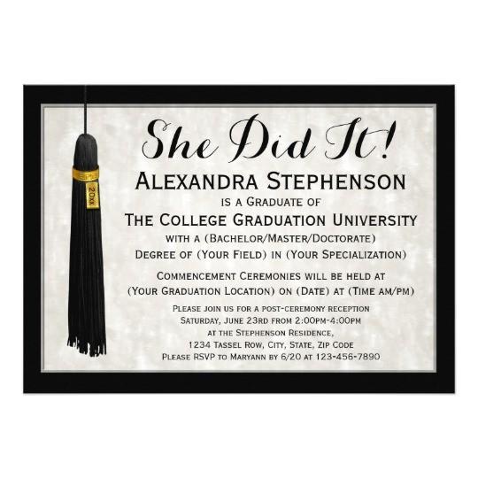 she did it tassel college graduation card 256182182196913359