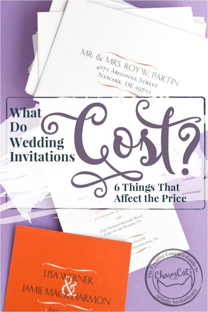 wedding invitation average cost
