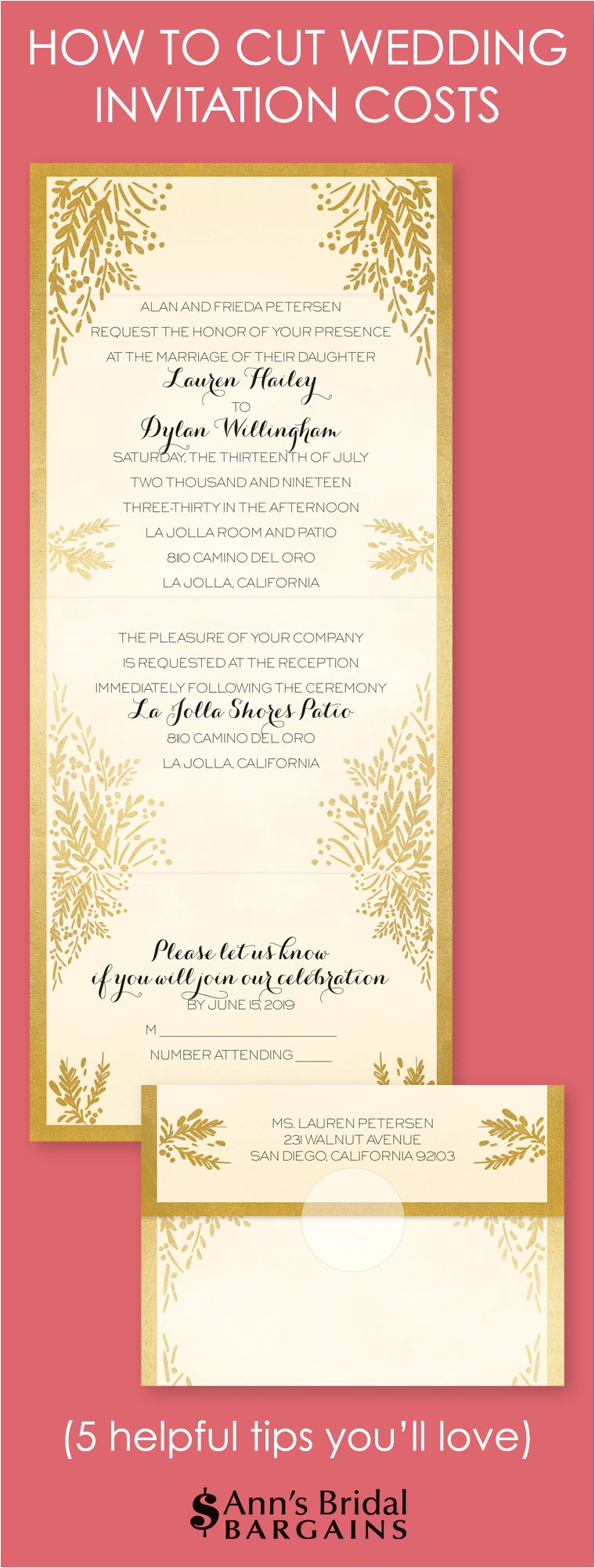 cut cost on wedding invitations