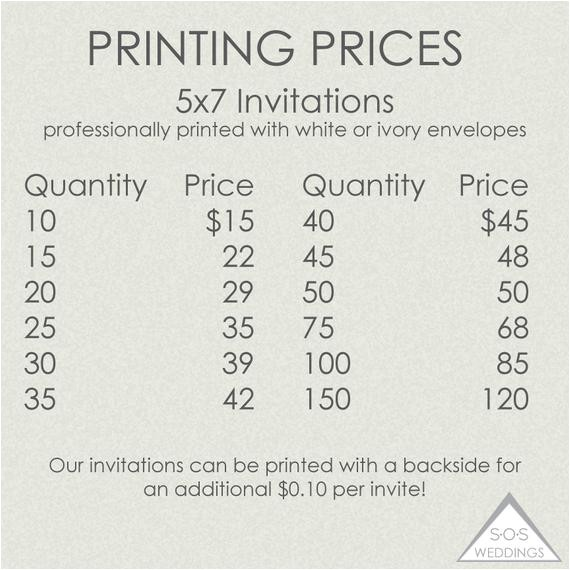 printed invitations printing prices