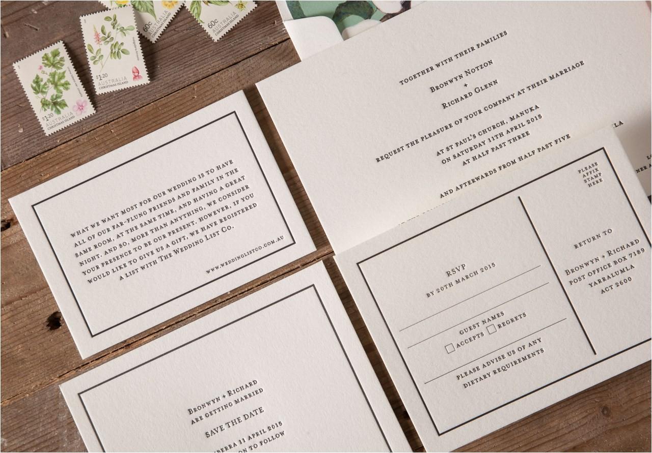 average size of wedding invitation