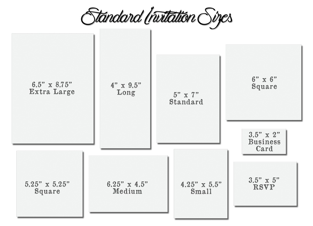 invitation card size