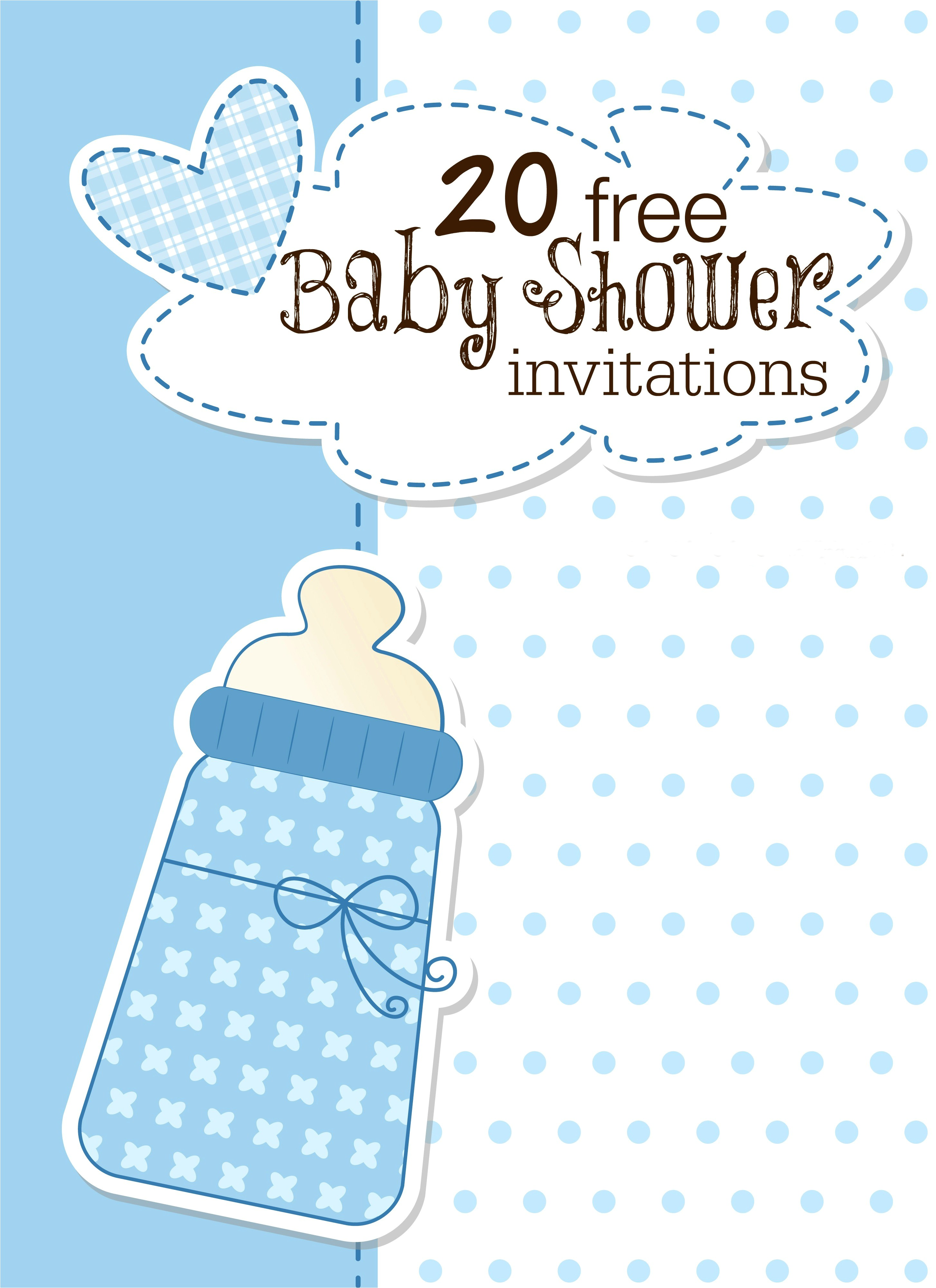 18 free baby shower invites