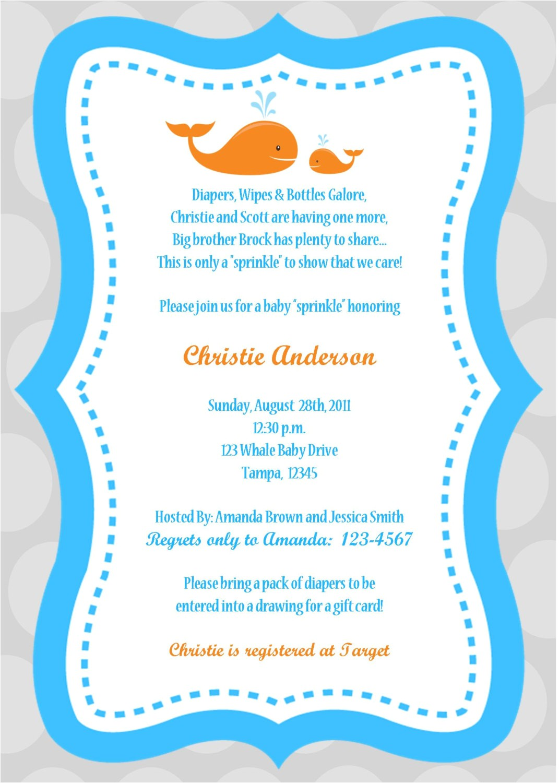baby boy shower invitations wording