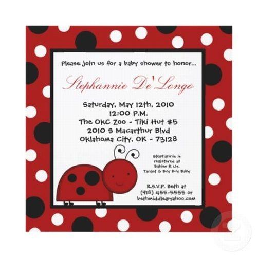 ladybug baby shower invitation and theme