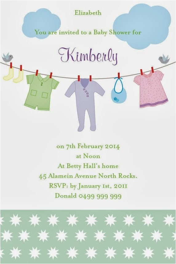 baby shower invitations via email