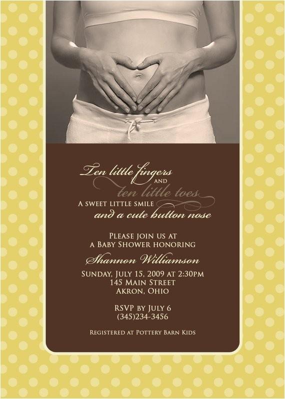 baby shower photo invitations sonogram