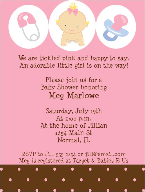 baby girl shower invitations