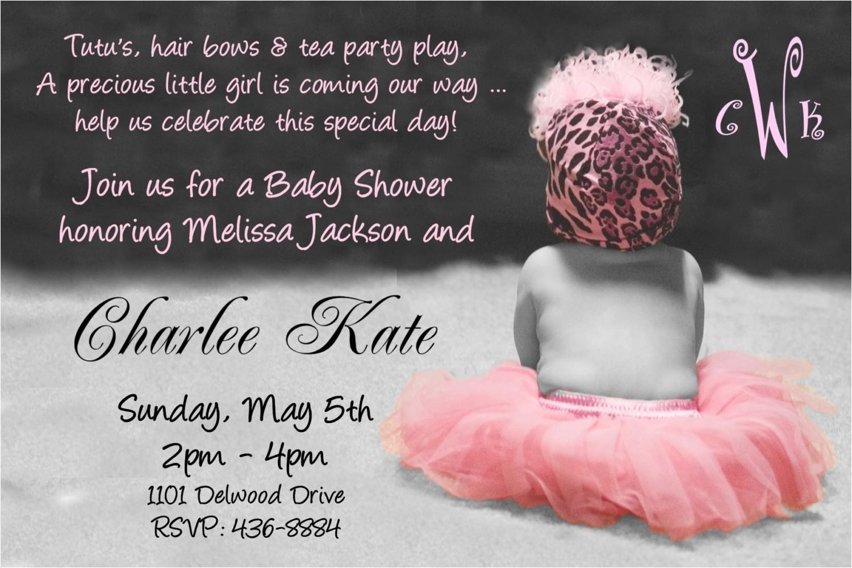 Baby Shower Invite Wording for Girl Baby Shower Invitation Wording for A Girl Cimvitation