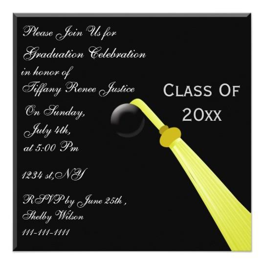 graduation hat back graduation party invitation 161594012064667747