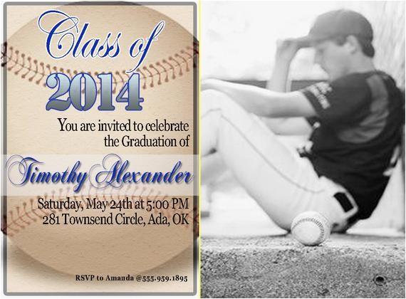 baseball graduation invitation