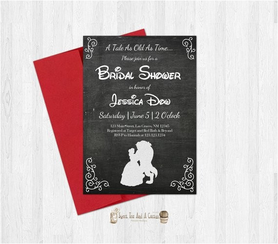 beauty and the beast bridal shower