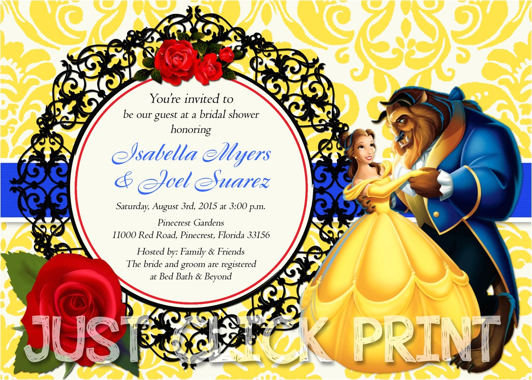 7383657 beauty and the beast bridal shower or birthday invitation printable