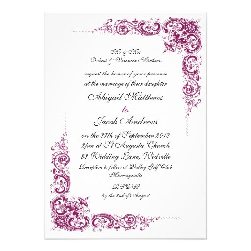 burgundy black swirl pattern wedding invitation 161758603620056945