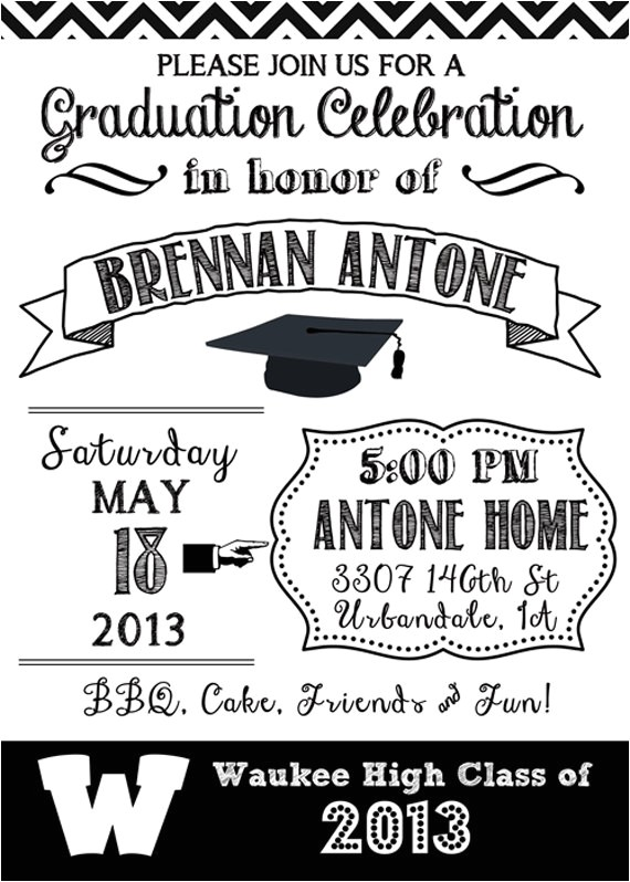 Black and White Graduation Invitations Black and White Graduation Ideas B Lovely events