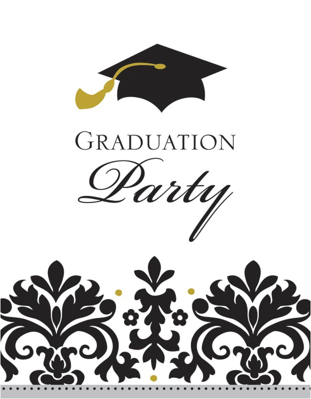black and white graduation invitations 50ct