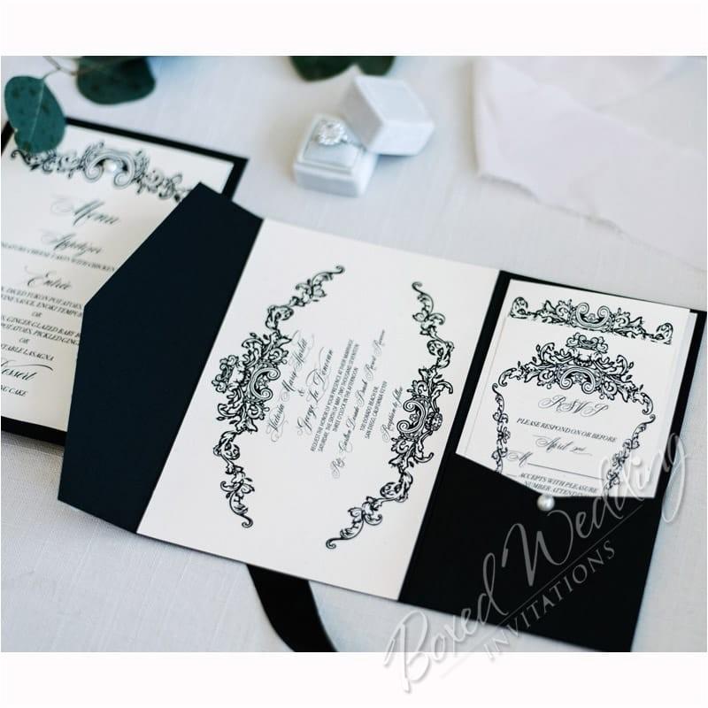 black tie wedding invitation p