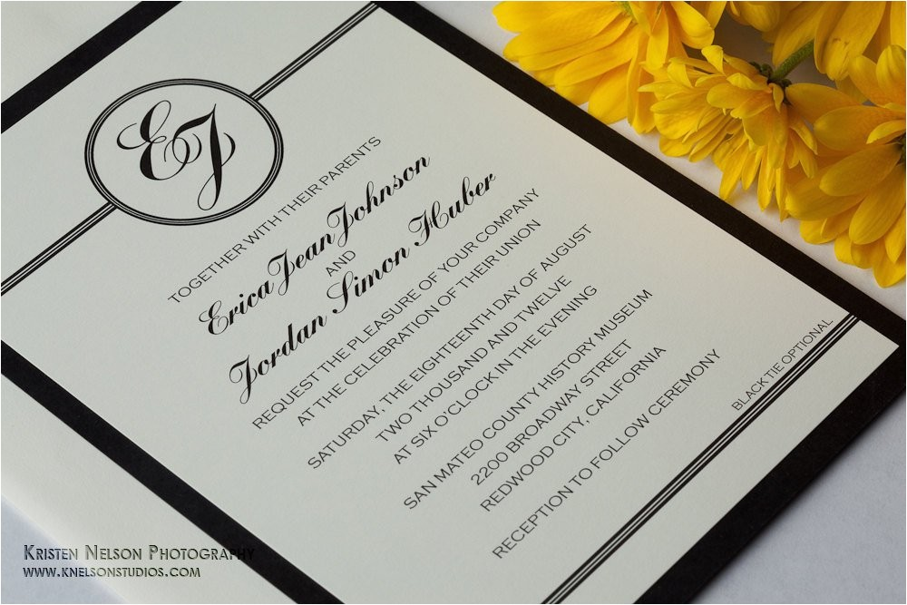 black tie wedding invitation wording