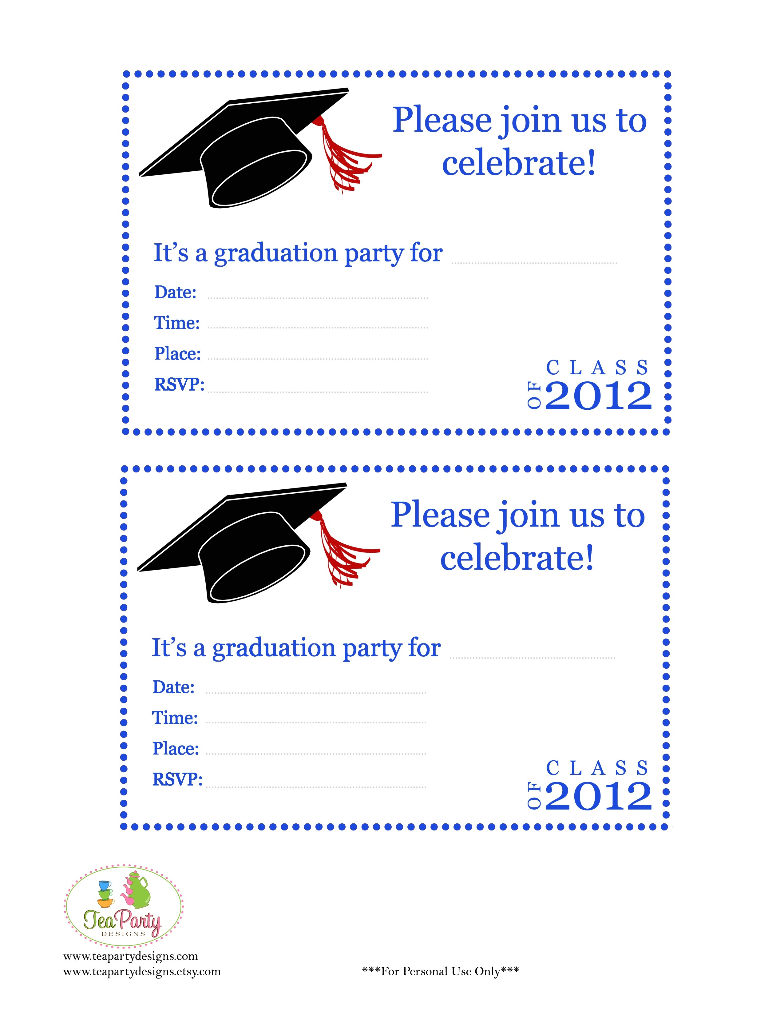 blank graduation invitations printable
