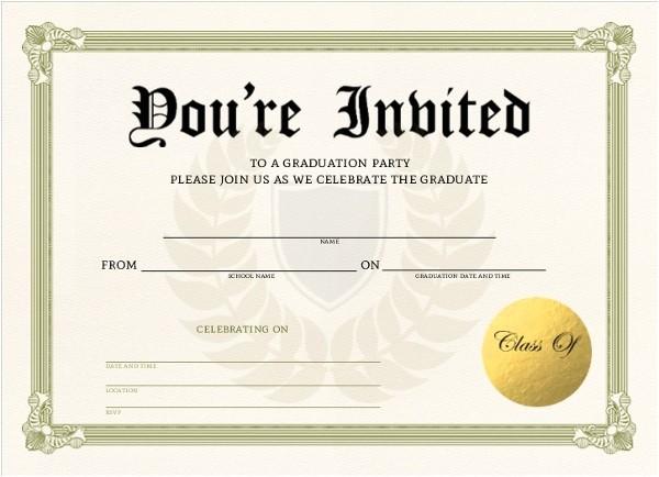 unique graduation diploma fill in the blank invitation