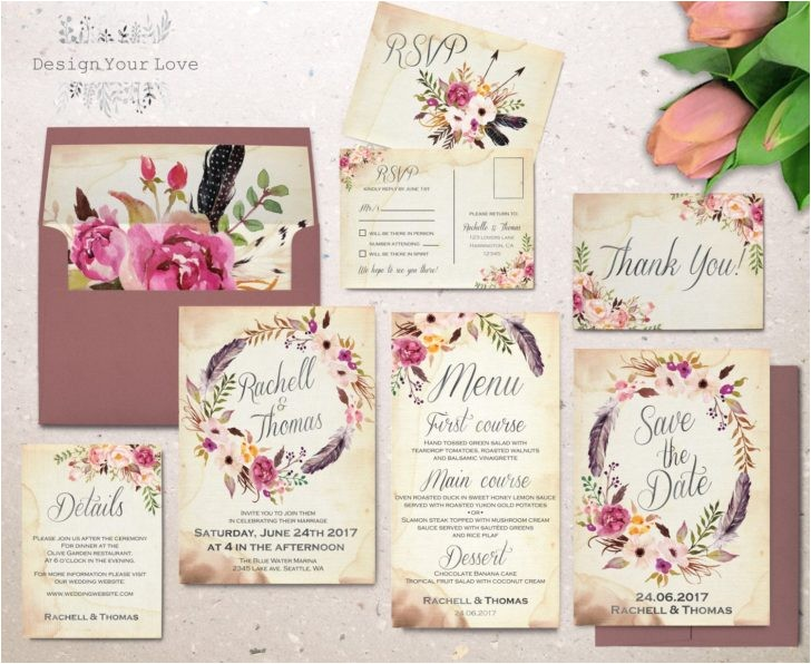 blank invitation sets