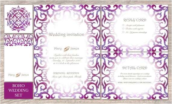 blank invitation wedding invitation set