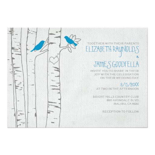 blue birds wedding invitations 161339473005757552