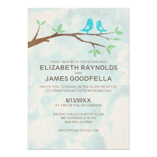 rustic blue bird wedding invitations invites 161805304855185668
