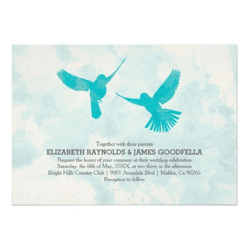 vintage blue bird wedding invitations invites 161837480825483666